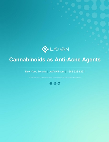 Cannabinoids as Anti-Acne Agents